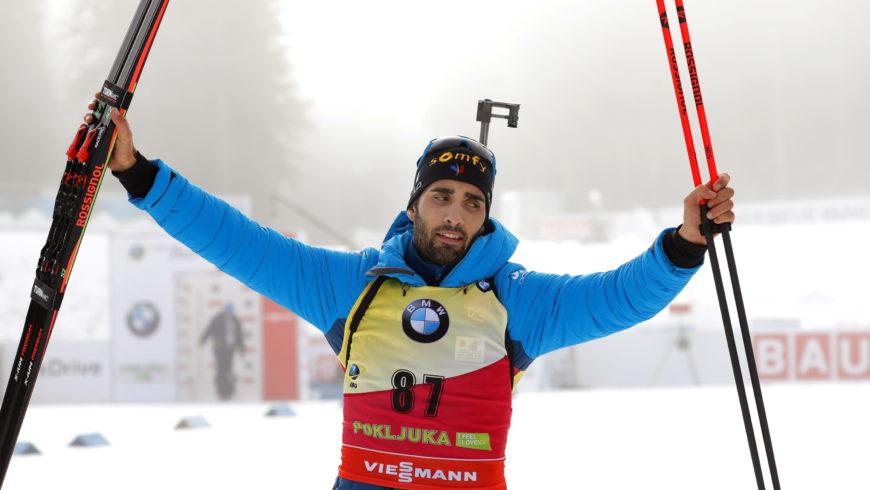PŚ w biathlonie: Fourcade zaczął sezon od zwycięstwa, Polacy daleko