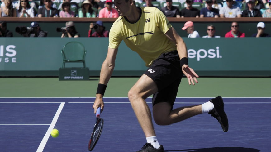 Turniej ATP w Indian Wells: Hubert Hurkacz przegrał w 1/4 finału z Rogerem Federerem